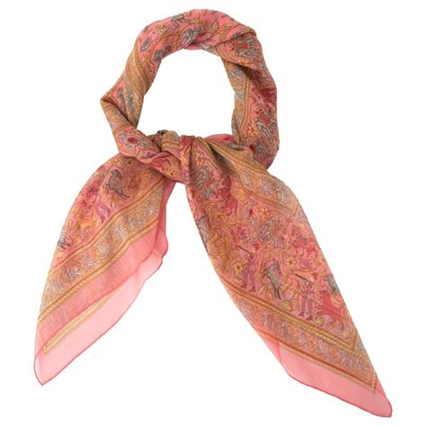 herm 232 s mousseline silk scarf for sale at 1stdibs