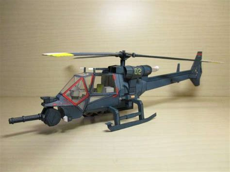 Helicopter Papercraft - blue thunder helicopter papercraft by a591452003 http