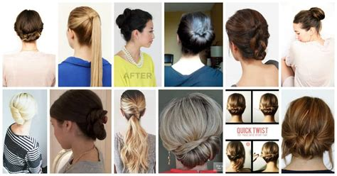 easy office updos buns chignons   busy