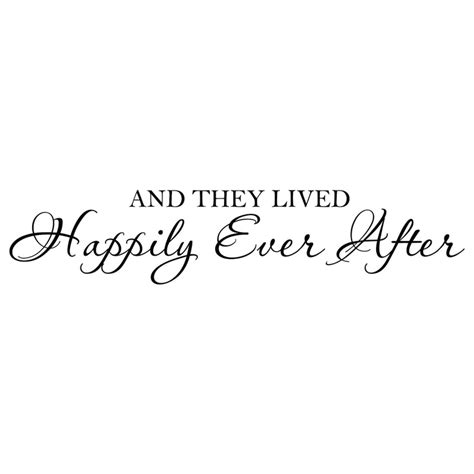 bedroom wall quotes pinterest and they lived happily ever after vinyl wall decal quote