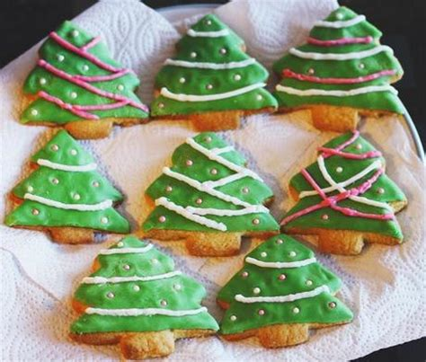 christmas tree shortbread recipe paperblog