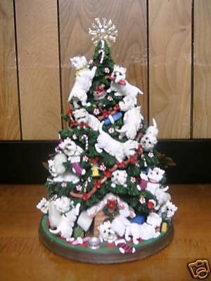 danbury mint westie dog christmas tree figurine 45985689