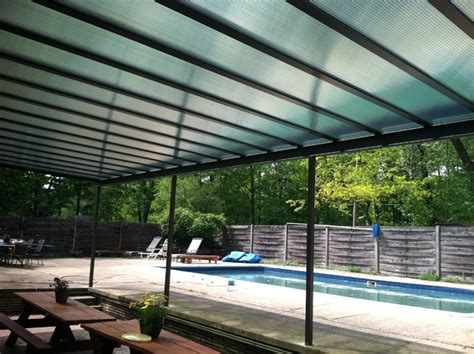 patio covers with translucent green panels