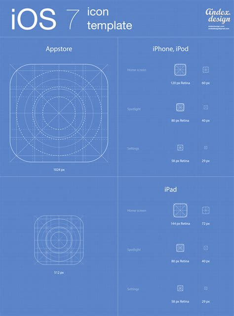 ios application templates ios 7 app icons template free vector site