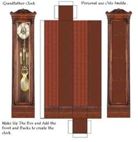 printable grandfather clock paper cut out doll house furniture on pinterest paper