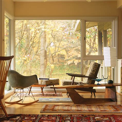 mid century modern rugs living room contemporary with bay