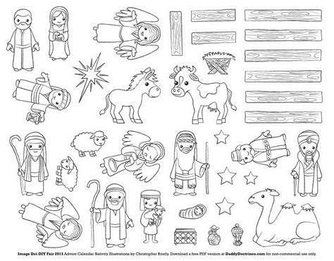 printable nativity scene cutouts nativity coloring pages coloring pages and christmas