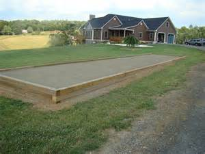 Backyard Bocce Decor Official Bocce Ball Size Bocce Court