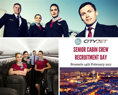 Based Cabin Crew by Cityjet Recruitment Day Next Tuesday Senior Cabin Crew Members Based At Brussels Airport Base