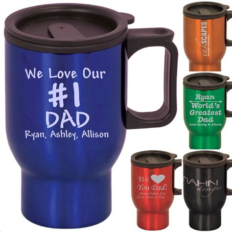 Personalized Coffee Travel Mugs Custom Fathers Day or Birthday Gifts For Dads 16   eBay