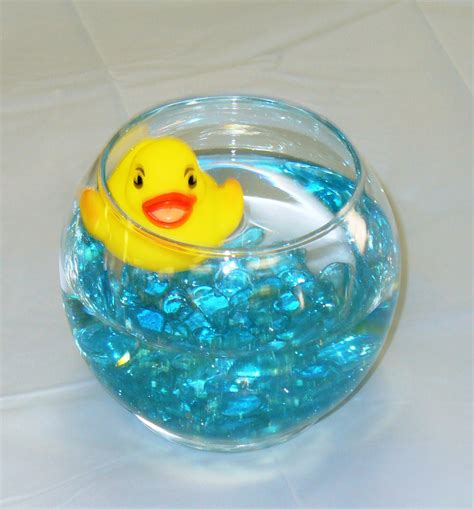tea time cupcakes rubber duck shower guest table centerpiece