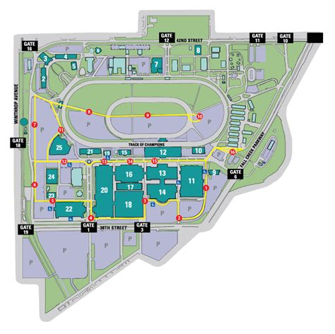 state fair parking map directions parking indiana state fair