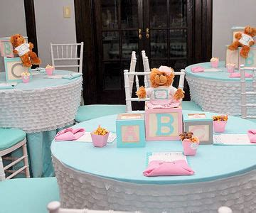 Baby Shower Center Table Decorations by Beautiful Baby Shower Centerpieces