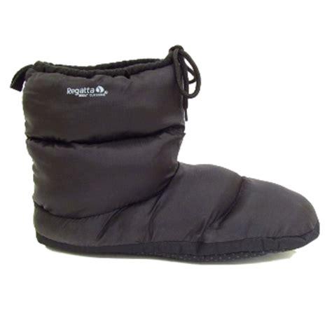 m s slipper boots mens black regatta quilted padded warm comfort slipper