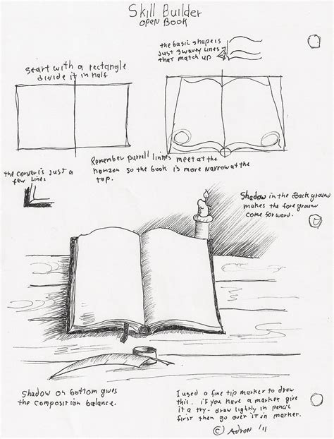 8 Drawing Book by Adron S Lesson Plans How To Draw An Open Book With