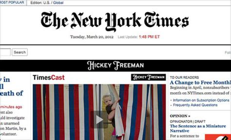 free articles new york times to cut free article allowance by half media news