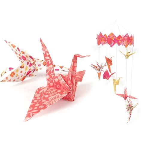 origami mobile kit kit d 233 co papier enfant mobile origami envol 233 e magique 224