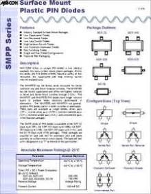 microwave oven diode datasheet ma4p282 287t datasheet 100 v surface mount plastic pin diode