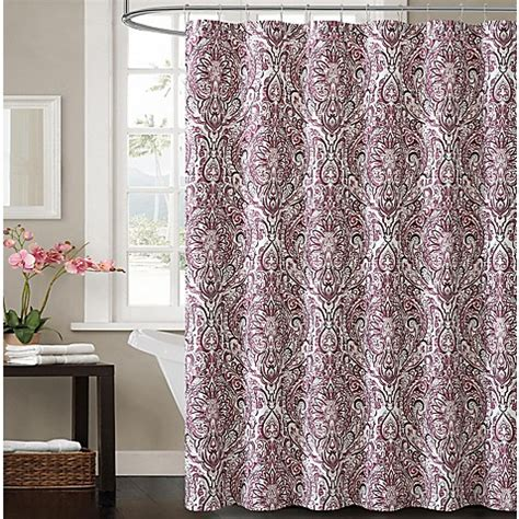 plum shower curtain victoria elanza shower curtain in plum bed bath beyond
