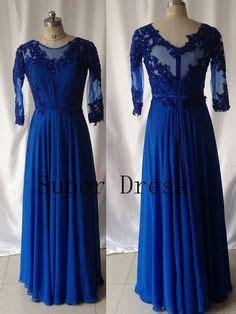 9181 Dress Mermaid wholesale free shipping navy blue trumpet mermaid floor length lace sleeve prom