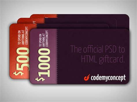 Lucky Gift Card - win 2 500 from codemyconcept webdesigner depot