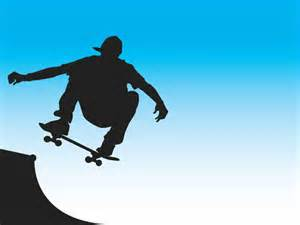 skater front side vector ppt backgrounds skater front