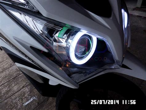 Lu Projector Vario 125 harga lu led buat motor vario 125 caferacer 1firts