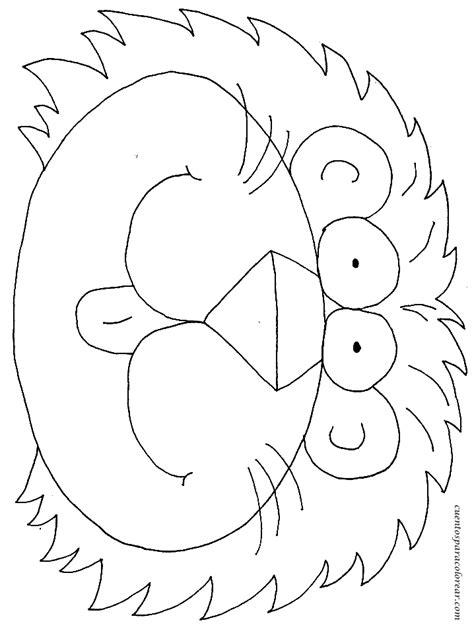 imagenes de leones infantiles para colorear moldes y figuras de sucha foami leones