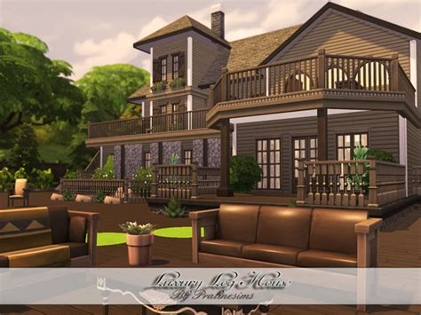 sims 2 luxury homes luxury log house by pralinesims at tsr 187 sims 4 updates