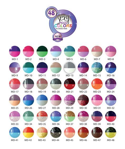 color mood chart mood color changing gel nail polish uv nails mood temperature gel polish 48 colors to choose from