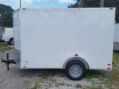 trailer white 6x10 sa trailer white barn doors side door