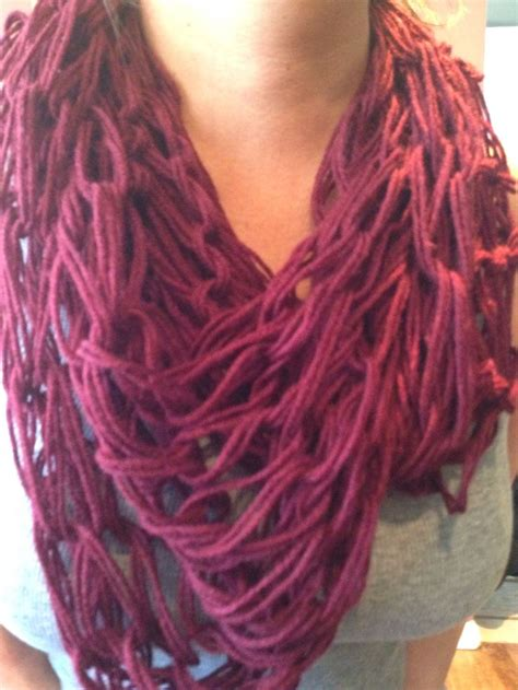 arm knitted infinity scarf arm knitting infinity scarf crafts
