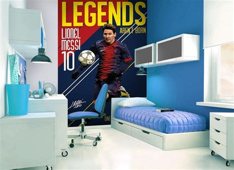 barcelona fc wallpaper for bedroom messi wall mural messi footbal bedroom children