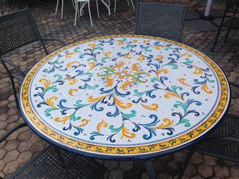 tavoli ceramica deruta tavolo rotondo deruta diametro 130 cm arredo giardino a