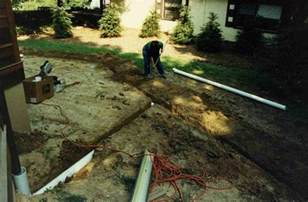 What Is A Interior Angle Installing Downspout Drain Lines Ask The Builder