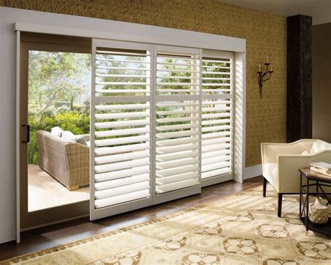 sliding patio door shutters plantation shutters for sliding glass doors home sweet
