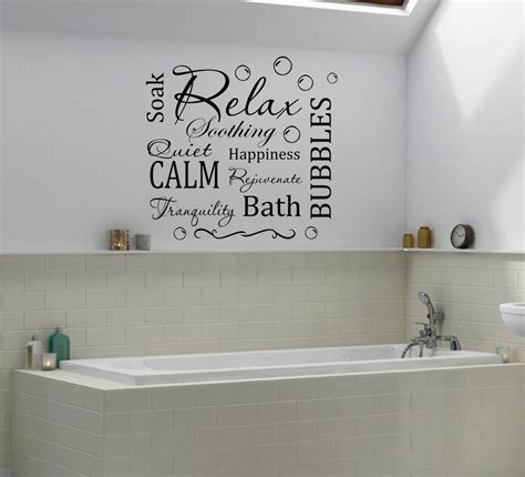 bathroom decal relax calm bathroom bubbles wall quote decal wall decals