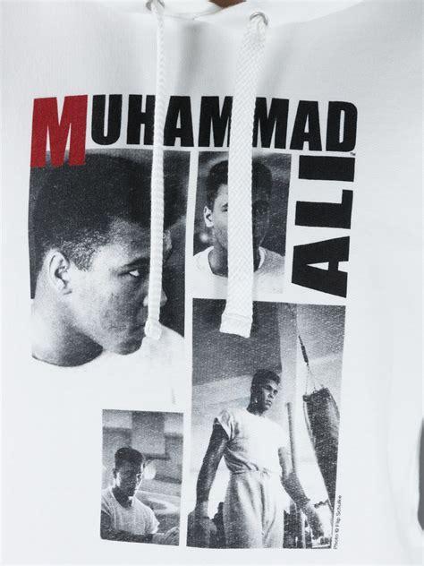 Hoodie Zipper Muhammad Ali The Greatest Hitam dolce gabbana muhammad ali hoodie in white for lyst