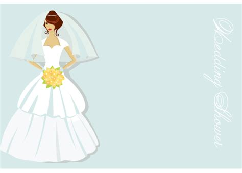 Free Clip Bridal Shower by Bridal Shower Card Vector Illustration Free 123freevectors