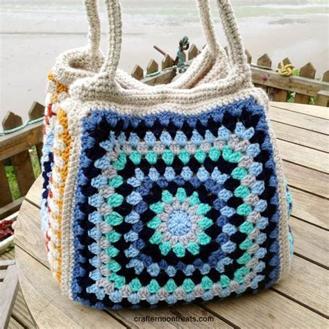 crochet pattern stash bag big stash bag tadah crafternoon treats