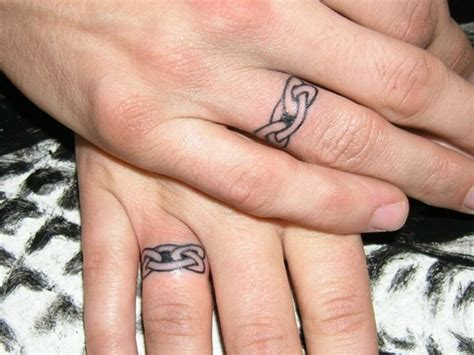 finger tattoo cons wedding ring tattoos couple finger tattoos