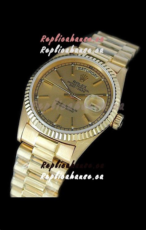 rolex replica day date swiss mens gold shipping from