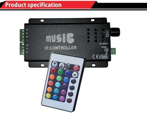 6 channel christmas light controller sound sensitive led controller rgb led christmas light