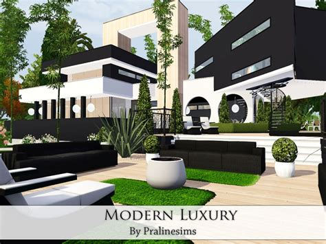 House Blueprints Free pralinesims modern luxury