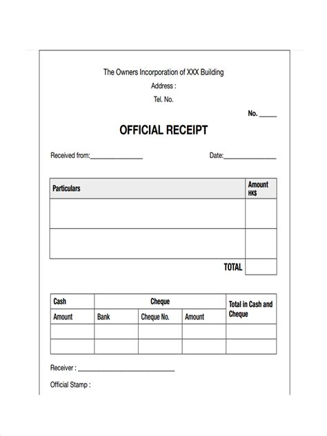 Official Receipt Template by Sle Official Receipt April Onthemarch Co