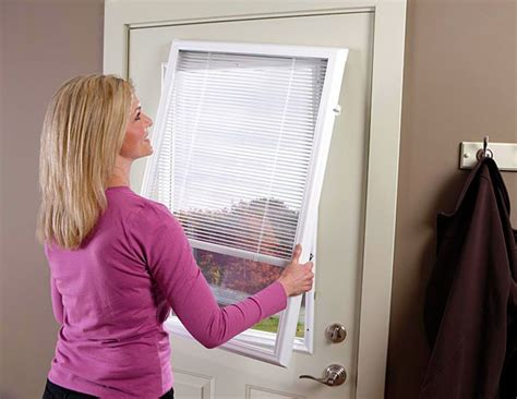 Add On Blinds For Raised Or Flush Frame Door Glass - add on enclosed mini blinds add on door blinds western