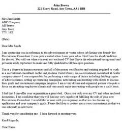 Cover Letter Temp Agency by Sle Cover Letter Sle Cover Letter To Recruitment Agency