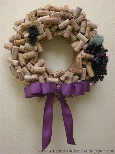 for diy wine cork wreath corky ideas