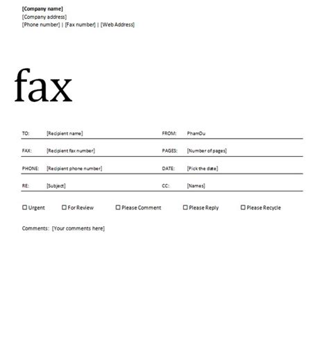 Fax Template Word 2010 by How Do I Create A Fax Cover Sheet In Microsoft Word 2010