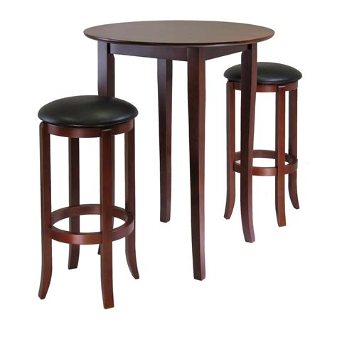 High Top Bar Tables And Chairs by Winsome Fiona 3pc High Pub Table Set By Oj Commerce
